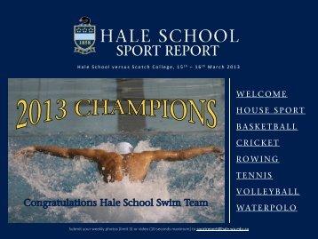 HALE SCHOOL SPORT REPORT