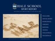 Sport Report 20120220 - Hale School