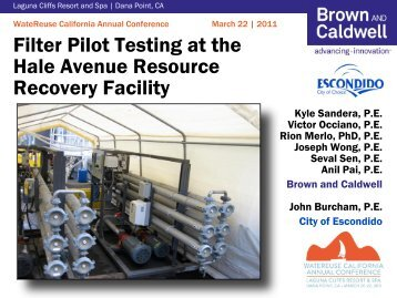 Filter Pilot Testing at the Hale Avenue Resource Recovery Facility