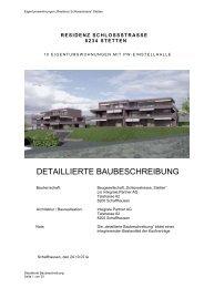DETAILLIERTE BAUBESCHREIBUNG - Bührer & Partner ...