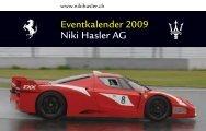 Eventkalender 2009 Niki Hasler AG