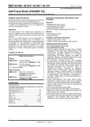 REF 42 048 / 42 615 / 42 627 / 42 727 Half-Fraser ... - bioMerieux