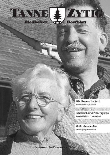 Impressionen vom «FC-Bänzejass» Mafia in ... - Gemeinde Riedholz