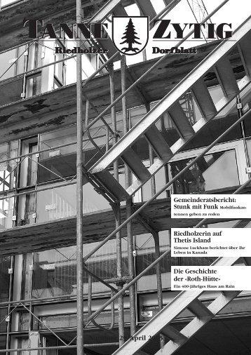 Nummer 29/April 2005 Gemeinderatsbericht ... - Gemeinde Riedholz