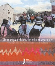 Giving people a chance: the value of opportunity - IFAD