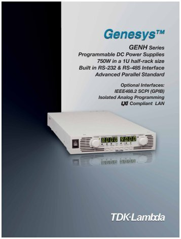 GENH Series Programmable DC Power Supplies 750W in a 1U half ...