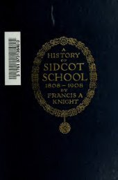 A history of Sidcot school : a hundred years of West ... - Index of