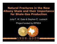 Natural Fractures in the New Albany Shale and their ... - Rpsea