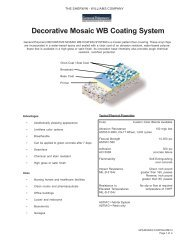 Decorative Mosaic WB Coating System - General Polymers