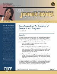 Gang Prevention: An Overview of Research and Programs