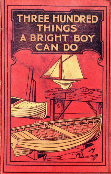 three hundred things a bright boy can do - Electric Scotland