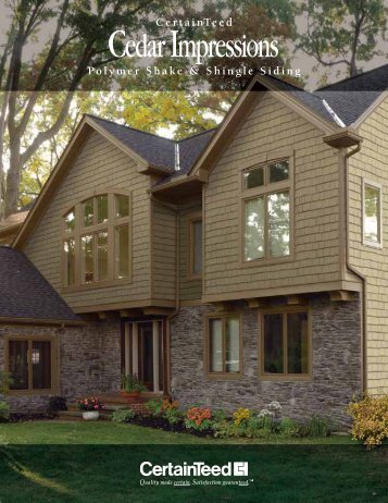 Cedar Impressions 174 Specifications Certainteed