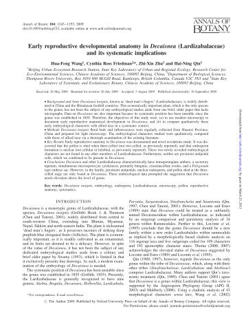 Reproductive Differentiation Into Sexual And Annals Of Botany