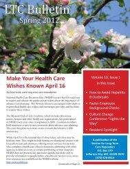 LTC Bulletin - Missouri Department of Health & Senior Services