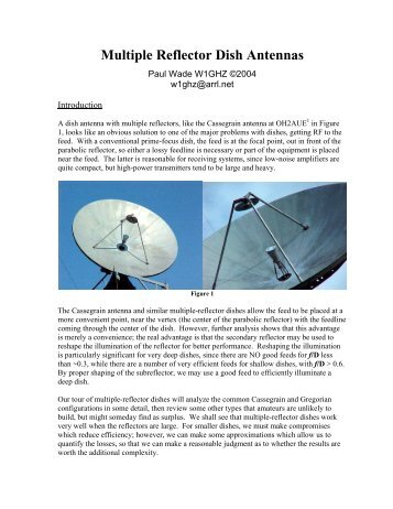 Multiple Reflector Dish Antennas - W1GHZ