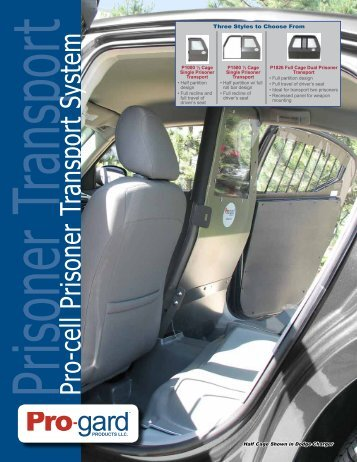 Prisoner Transport Pro-cell Prisoner Transport System - Pro-Gard ...