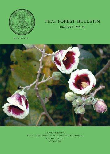 thai forest bulletin (botany) no. 34