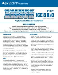 roof armor poly ice and water.qxp - Guardian Building Products