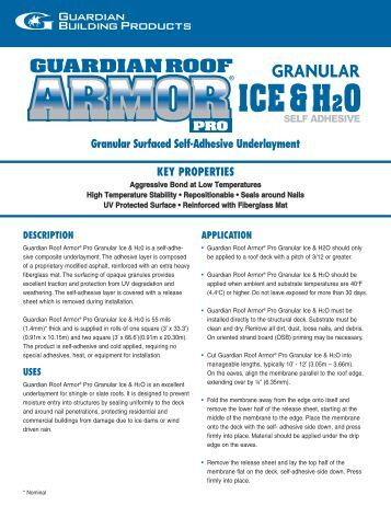 Self Adhering Water Amp Ice Protection Roofing Underlayment
