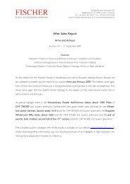 After Sales Report - Galerie Fischer Auktionen AG
