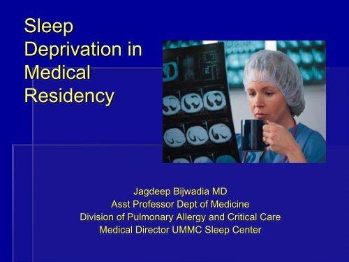 Sleep Deprivation in Medical Residency
