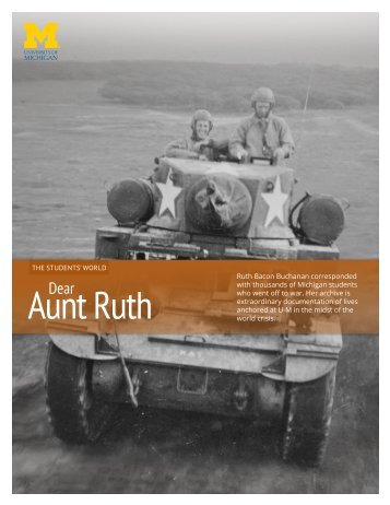 Aunt Ruth - The University of Michigan Heritage Project