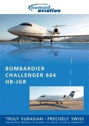 BOMBARDIER CHALLENGER 604 HB-JGR - Nomad Aviation AG