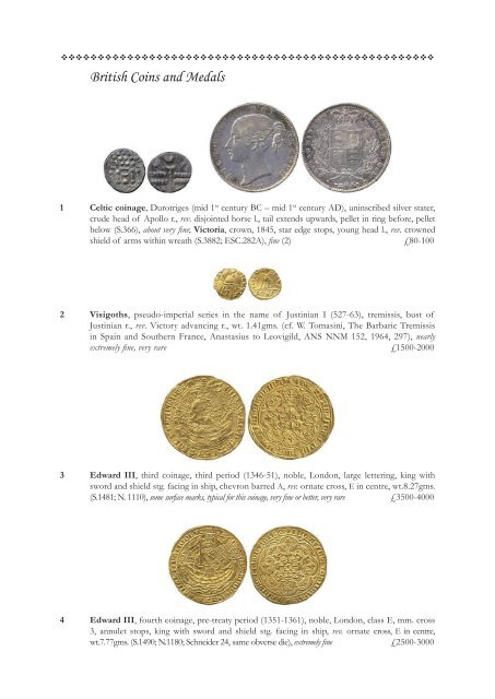 British Coins and Medals - St James's Auctions