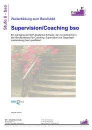 Supervision/Coaching bso - NLP Akademie Schweiz