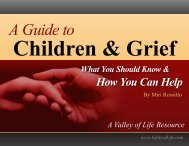 A Guide to Children & Grief - griefHaven