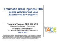 Traumatic Brain Injuries (TBI) Coping With Grief ... - Southeast TACE
