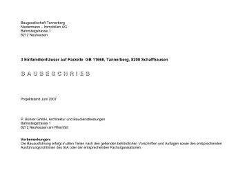 B A U B E S C H R I E B - Bührer & Partner Immobilien AG