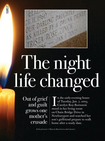 Out of grief and guilt grows one mother's crusade - Carolyn Roy ...