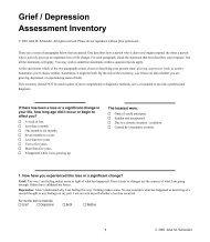 Grief / Depression Assessment Inventory - Integra