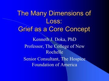 The Many Dimensions of Loss: Grief as a Core Concept - SMH.com