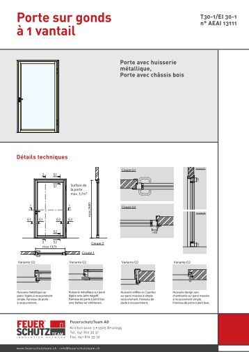 Porte paliere battante pa for Porte 1 vantail