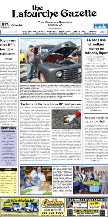 Wednesday, March 06,2013 - The Lafourche Gazette