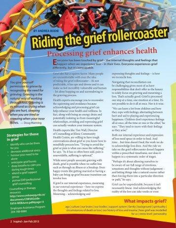 Riding the grief rollercoaster - Winnipeg Regional Health Authority