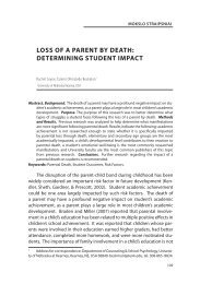 loss of a parent by death: determining student impact - Tarptautinis ...