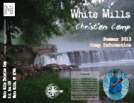 2013 Online Brochure - White Mills Christian Camp