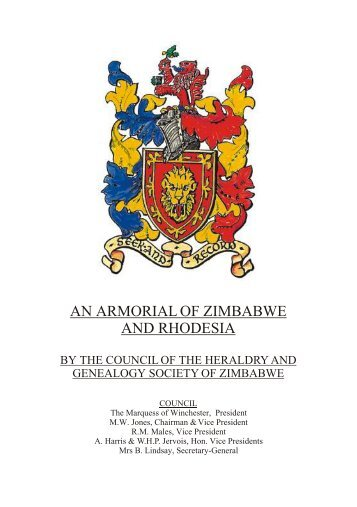 an armorial of zimbabwe and rhodesia - Association of Amateur ...