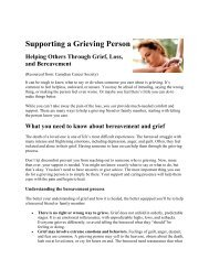 Supporting a Grieving Person