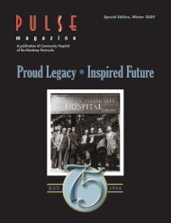 Proud Legacy • Inspired Future - Community Hospital of the ...