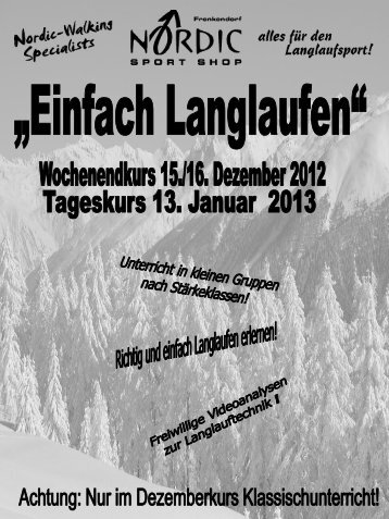 Langlauf-Plausch im Goms - Nordic Sport Shop GmbH
