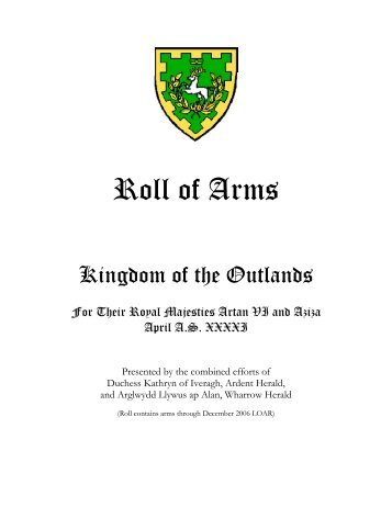 Roll of Arms - Barony of al-Barran - Kingdom of the Outlands