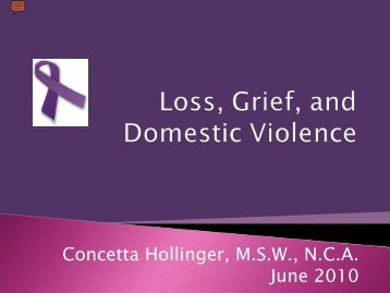 Loss, Grief, and Domestic Violence - Florida Council Against Sexual ...