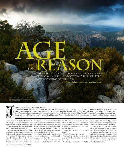 The Verdon GorGe is Technical, spicy and run ouT, so why is This ...