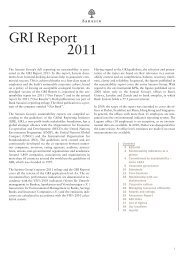 GRI Report 2011 - Bank Sarasin & Cie AG