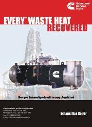 Exhaust Gas Boiler - Cummins in India