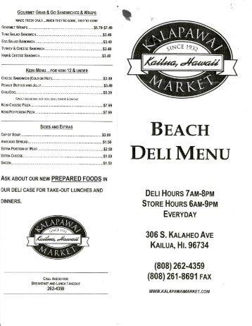 gourmet grab & g0 sandwiches & wraps - Kailua Vacation Rentals